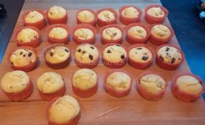 muffin fragole banane e cioccolato