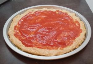 preparazione pizza integrale 7